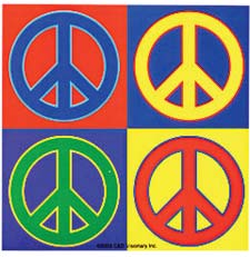 four-peace-signs
