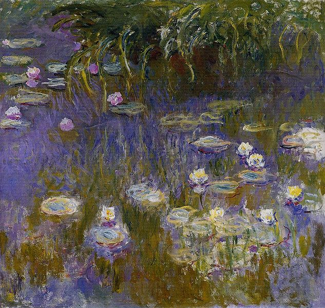 water-lilies-claude-monet-oil-on-canvas