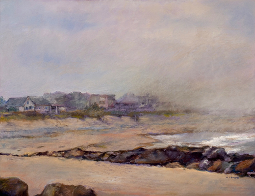 fog-at-the-beach-by-marge-levine-pastel