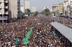 5 miles of protestors