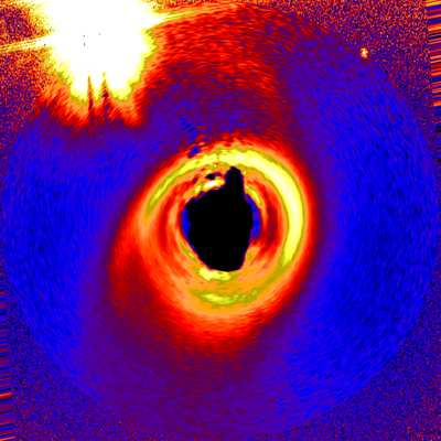 False Light Image of Dust Disk Around Star HD141569