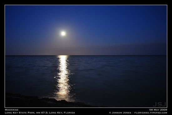 Moonrise Long Key Florida by JJ