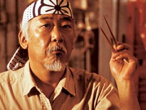 Mr Miyagi with Chopsticks