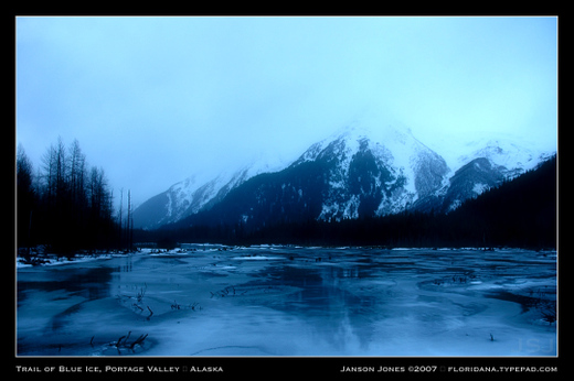 Trail of Blue Ice Portage Valley AK by JJ