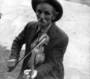 Fiddlin Bill Hensley Asheville NC by Ben Shahn