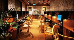 Internet Cafe aboard cruise ship liberty