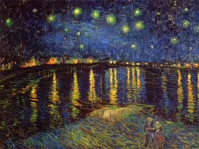 Van Gogh Starry Night Over the Rhone 1888