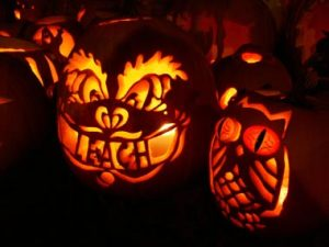 Jack-o-lanterns in Keene NH by Tim Somero