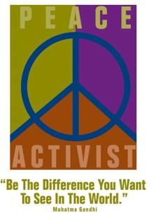 peace activist poster