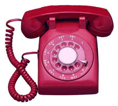 Red Rotary Telephone – Lola's Curmudgeonly Musings