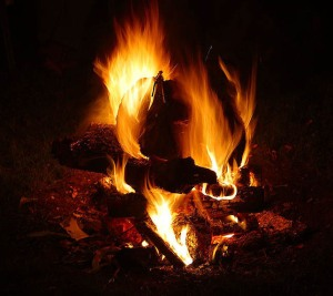 Solstice bonfire Montana