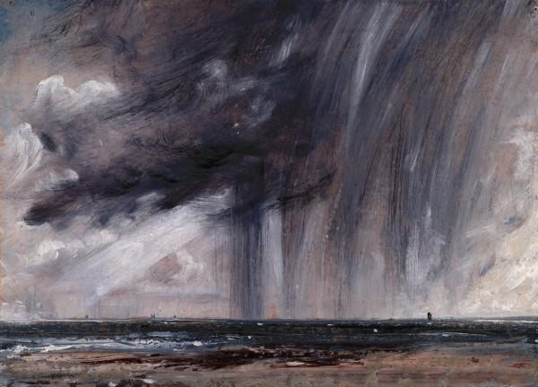 John Constable Rainstorm Over the Sea 1824 oil on canvas