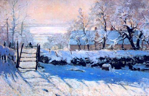 The Magpie Monet 1869 oil on canvas Musee d Orsay