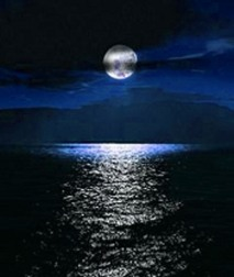 Image result for moon reflection on water