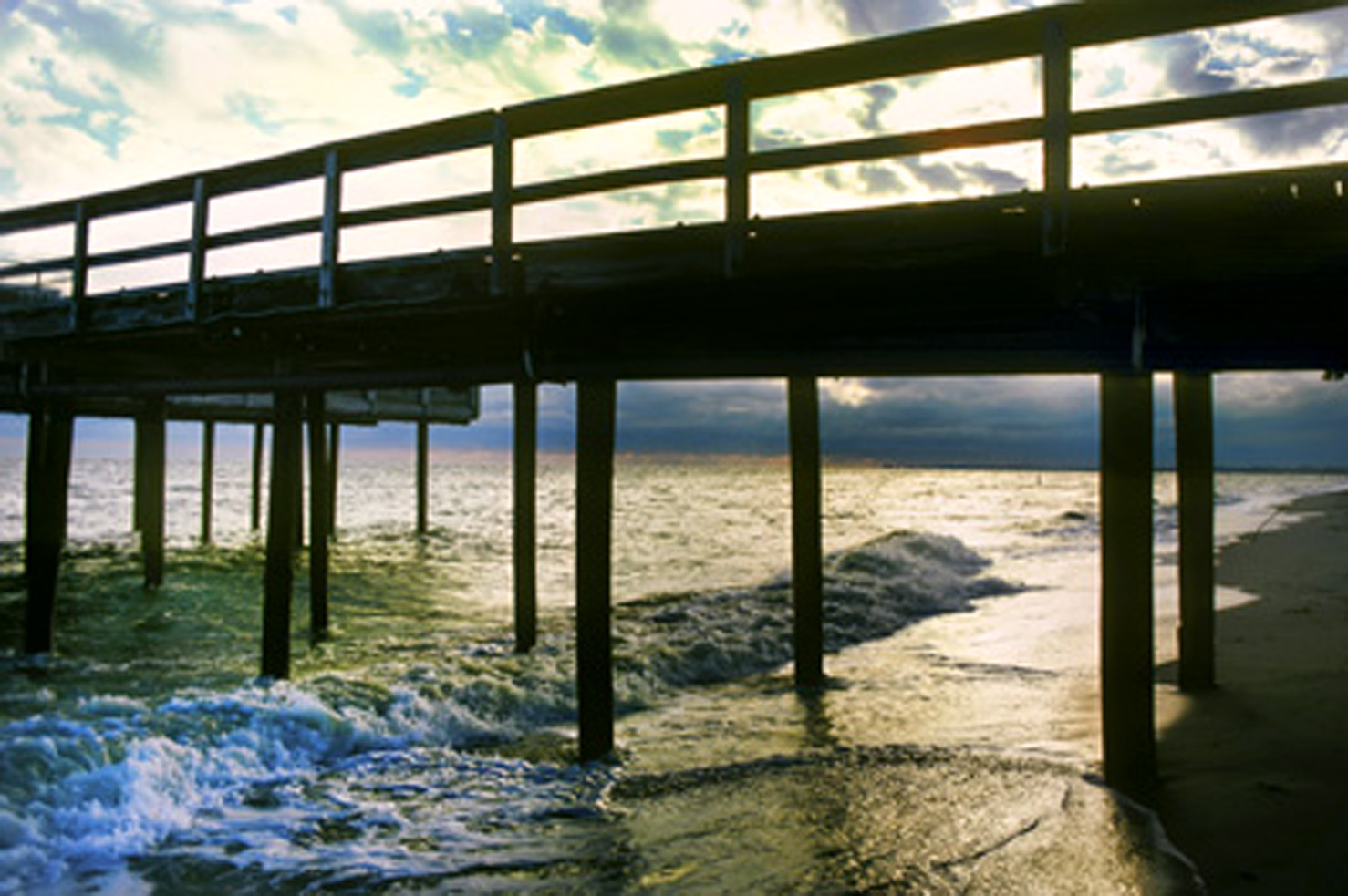 The voice in my head speaks to me of my father in a time for Ocean view fishing pier