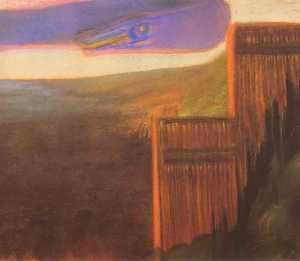 """Tvanas IX (from """"The Flood Cycle"""") by Mikalojus Konstantinas Ciurlionis (1904-05)"""