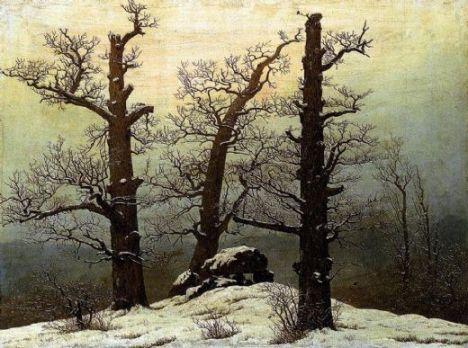 Caspar David Friedrich, Dolmen in the Snow oil on canvas