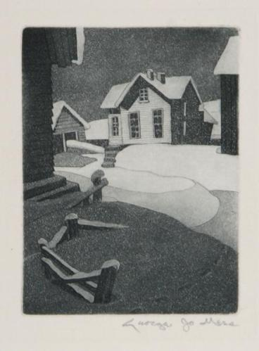George Jo Mess Snow Drifts ca 1940