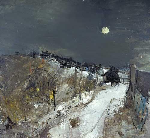 """""""Catterline in Winter"""" (1963, oil on hardboard)Joan Eardley"""
