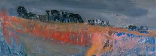 """""""Harvest Time"""" (1960-61, oil on board)by Joan Eardley"""