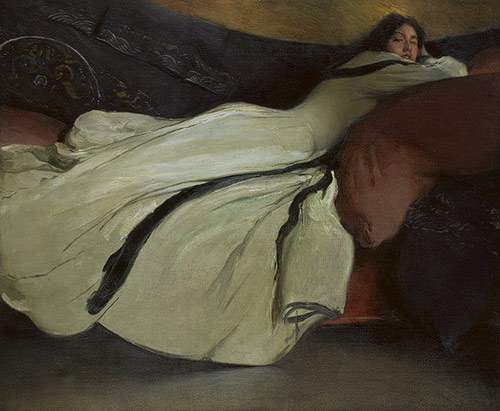 """Repose"" (1895, oil on canvas)John White Alexander"
