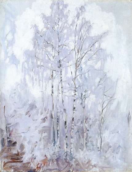 Akseli Gallen-Kallela, Frosty Birch Trees, 1894, oil on canvas