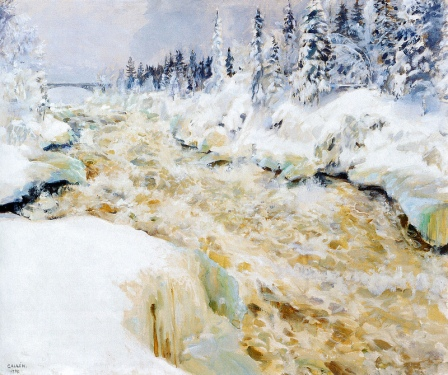 Akseli Gallen-Kallela Imatra in Winter 1893 oil on canvas