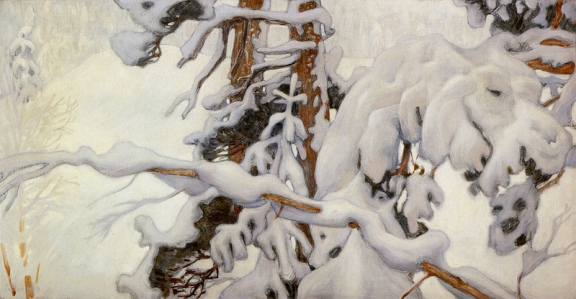 """Winter"" (1902, tempera on canvas)by Akseli Gallen-Kallela"