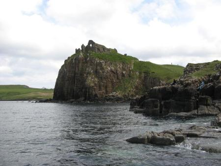 Duntulm Castle overlooking the Minch, Scotland by Brian Zinnel CC
