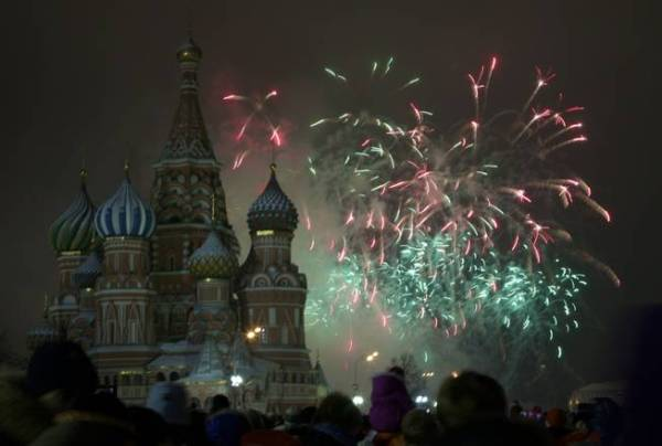 Fireworks over St Basil Cathedral, Russia Ivan Sekretarev AP