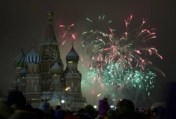 Fireworks over St Basil Cathedral, Russia Ivan Sekretarev AP