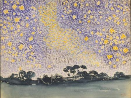 Henri-Edmond Cross Landscape with Stars 1905-8