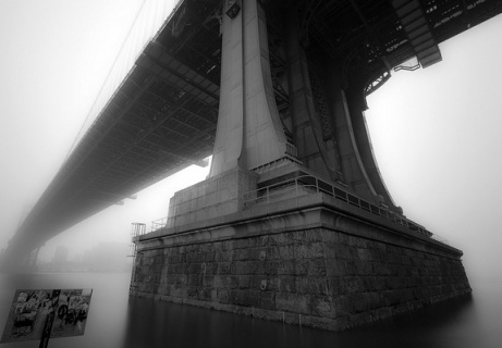 Manhattan Bridge in Fog by merlune FCC