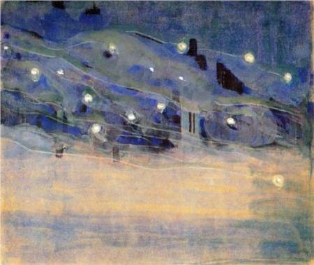 Mikalojus Ciurlionis Sparks III 1906 tempera on paper