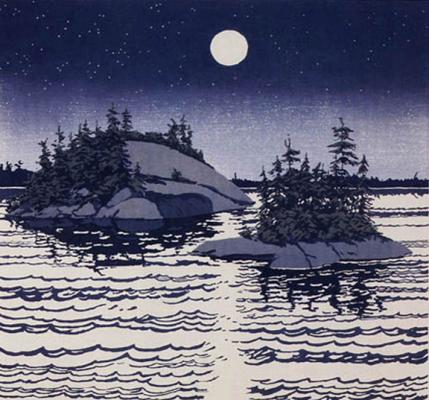 """Islands Allagash (1990)by Neil Welliver"