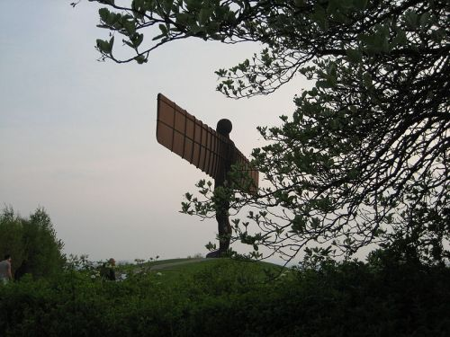 Angel of the North through Trees