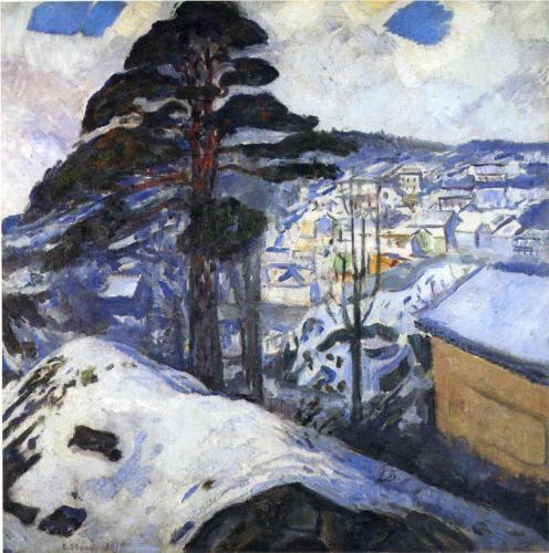 Edvard Munch Winter, Kragero 1912 oil on canvas
