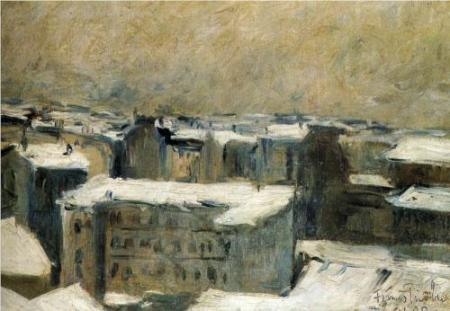 Francis Picabia Roofs of Paris oil on canvas 1900