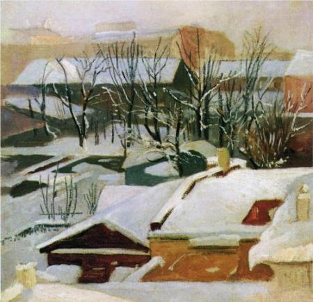 Ivan Shishkin City Roofs in Winter nd