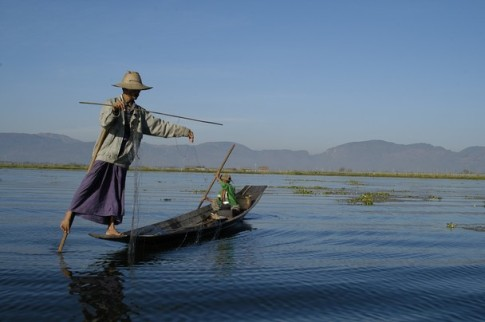 Spear Fisherman on Inle Lake by Cuong Do Nat Geo