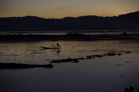 Sunset at Inle Lake, Myanmar by Joseph Cressman Nat Geo