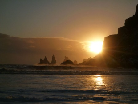 Sunset at Reynisdrangar, Iceland by Phil MacDonald Telegraph Big Picture