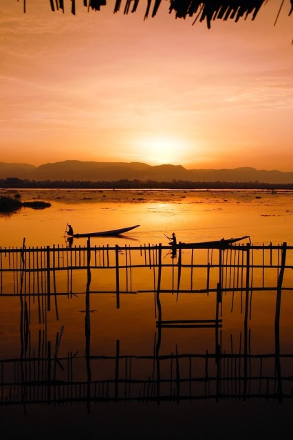 Sunset on Inle Lake by Chinmay Vasavada Nat Geo