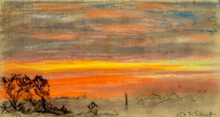 William Ascroft Sky Study 1886 pastel
