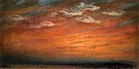 William Ascroft Sunset and Afterglow 1883 pastel