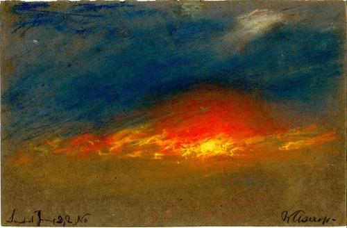 William Ascroft Sunset in June after Eruption of Krakatoa c1880 pastel