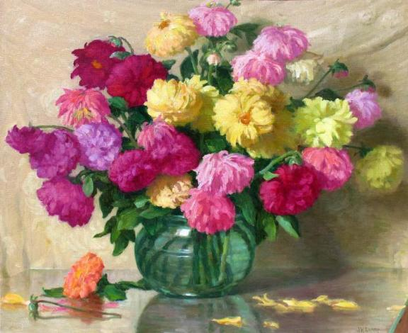 Joseph Henry Sharp Dahlias