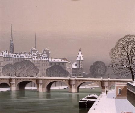 Pierre de Clausade Neige au Pont Neuf