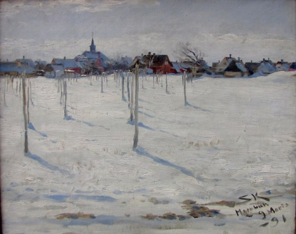 PS Kroyer Hornbaek in Winter oil on canvas1891