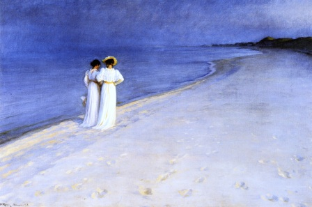 PS Kroyer Summer Night on the South Beach at Skagen 1893 oil on canvas